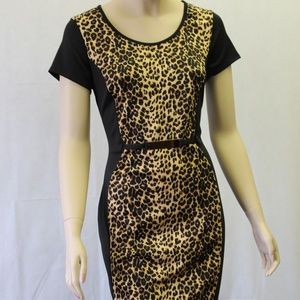 Annabelle Leopard Print With Black Side Panels